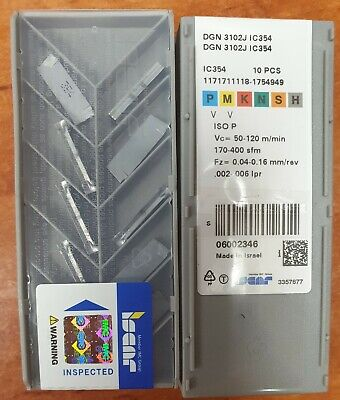 10x  DGN  3102J IC 354  Iscar  Carbide Inserts The listing is for 1 box
