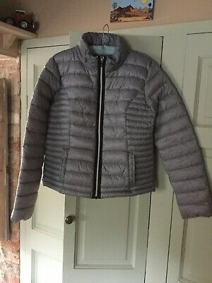 Ladies Next Lighly Padded Waterproof Pack Away Anorak Jacket Size 12 With Labels
