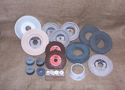 Selection Of 27 Norton & Wolf Grinding Wheels - Bench Grinder Wheels