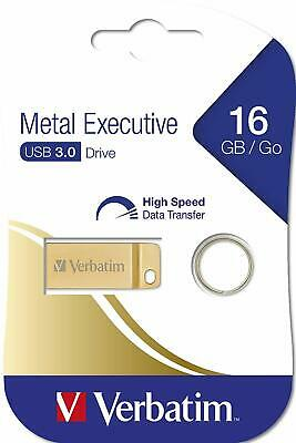 Verbatim 16GB Metal Executive USB 3.0 Flash Drive - Gold 99104