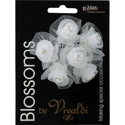 NEW Vivaldi Blossoms 6 Head Tulle Flower With Diamante By Spotlight