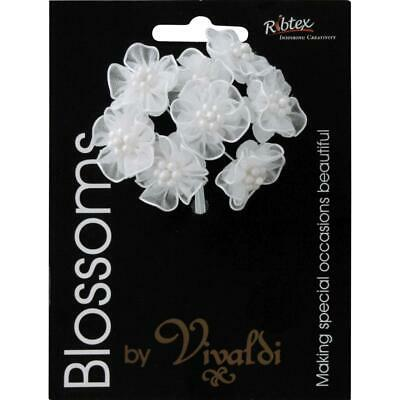 NEW Vivaldi Blossoms 8 Head Organza Daisy With Pearls By Spotlight