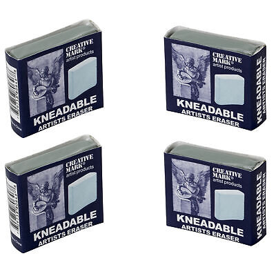 Creative Mark Kneaded Eraser Artist Supply Drawing Sketch Charcoal Large 4 Pack
