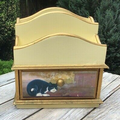 Shabby Wooden Letter Rack With Drawer