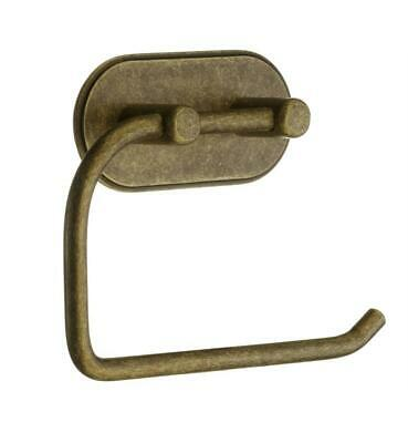 "Smedbo 5 1/2"" Self-Adhesive Toilet Paper Holder in Antique Brass, BA1127"