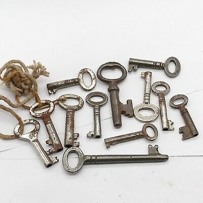 Job Lot Of Antique Key Furniture Clock Cabinet Caddy Old Lock Keys Collection