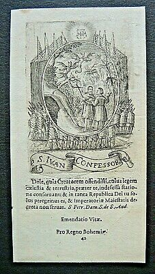 Kupferstich um 1720 -  IVAN  Conf.   engraving, holy card, santino (OS1)