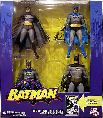 DC DIRECT COLLECTIBLES GOLDEN AGE BATMAN FIGURE OF THROUGH THE AGES GIFT SET