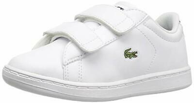 2bc7f784 LACOSTE STRAIGHTSET 119 White Pink Green Kids Baby Infant Toddler ...
