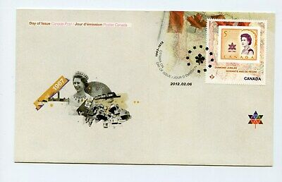 Canada FDC #2514 Queen Elizabeth Diamond Jubilee Stamp on Stamp 2012 73-6