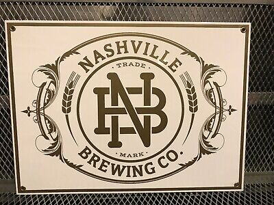 NASHVILLE BREWING CO ~ NEW ~ HEAVY Porcelain ~ RARE ~ Beer Advertising Sign