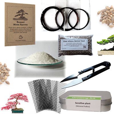 Bonsai, Tree growing kit sets & Equipment , wire , food , gifts, tools & more
