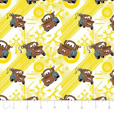 Camelot Fabric Disney Pixar Cars Mater Fat Quarters 85070105  100% Cotton Fabric