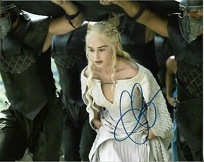 "EMILIA CLARKE Game of Thrones"" Autographed 8 x 10 Signed Photo HOLO COA"