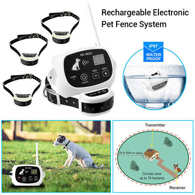 Electronic Wireless In-Ground Remote Pet Dog Fence Containment System Waterproof