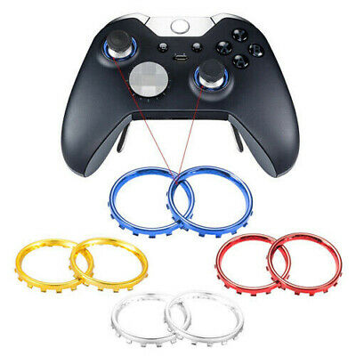 Xbox One Elite Controller Chrome Thumbstick Analogue Rings Blue Red Gold Silver