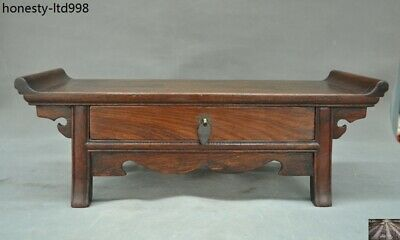 Chinese Huanghuali wood carved Drawer Storage Cabinet Ancient Tables desk table