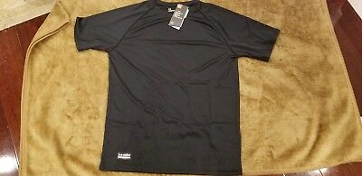Under Armour Tactical Heatgear Black Short Sleeve shirt mens 1216028 S M