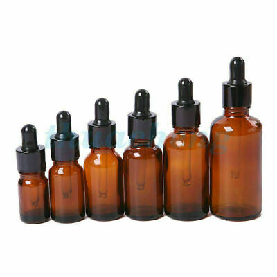 Amber Glass Liquid Reagent Pipette Bottle Eye with Glass Dropper Aromatherapy