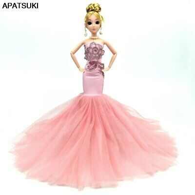 Fashion Doll Clothes For 1/6 Doll Mermaid Fishtail Wedding Party Dress Kids Toy