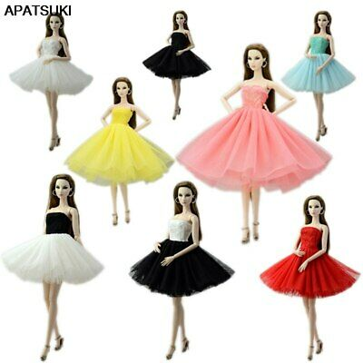"Fashion Doll Clothes Short Ballet Dress For 11.5"" Doll Outfits Evening Dress 1/6"