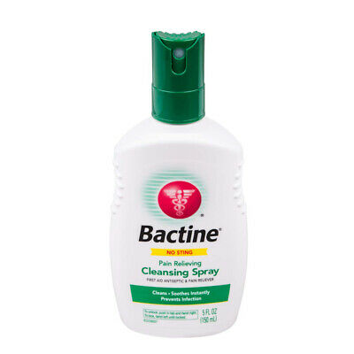Bactine Pain Relieving Cleansing Spray Soothing Infection Protection 5 oz