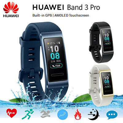 HUAWEI Band 3 Pro AMOLED Smart Watch GPS Wasserdichtes Armband Pulsmesser O2U3