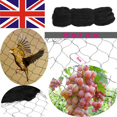 Anti-Bird Pond Net Netting Garden Plant Veg Crops Fruit Protection Mesh 30*15M