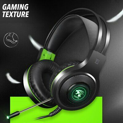 V5000 Stereo Gaming Headset Noise Cancelling Over Ear Headphone with Mic FM