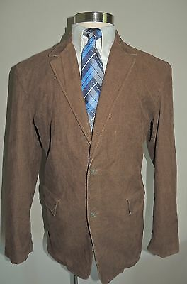 Men's J. Crew Brown Corduroy 100% Cotton Sport Coat Size Lge