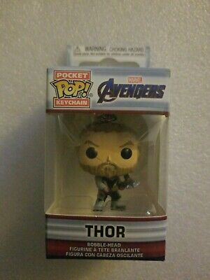 NIB Funko Pocket Pop! Keychain Marvel Avengers Thor w/Stormbreaker Bobble-Head