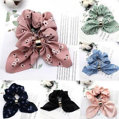 Women Simple Satin Ribbon Bow Hair Rope Ponytail Holder for Hair Accessories