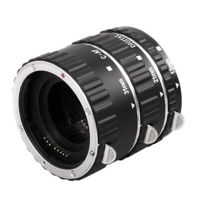 Metal Auto Focus AF Macro Extension Tube Lens Adapter Ring for Canon EOS UKLU