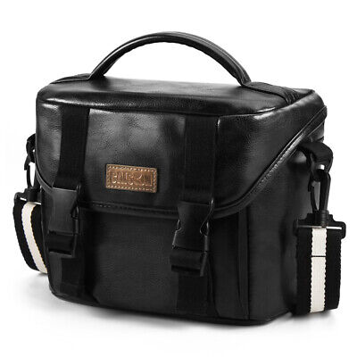 PU Leather DSLR Mirrorless Camera Bag Case For Canon EOS R M50 M100 1500D 3000D