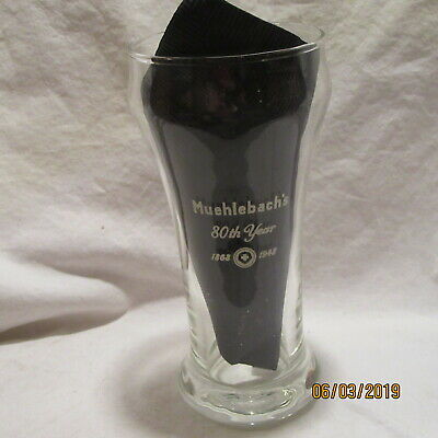 Vintage Muehlebach's Beer 80Th Year 1868-1948 Sham Glass