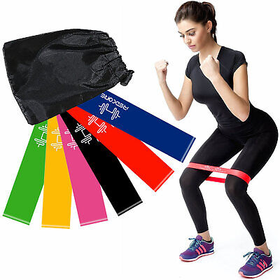 6 Bandes Résistance Elastique Fitness Set Gym Musculation Yoga Crossfit Sport FR