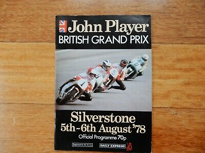 John Player British Motorcycle Grand Prix1978 Silverstone Official Programme