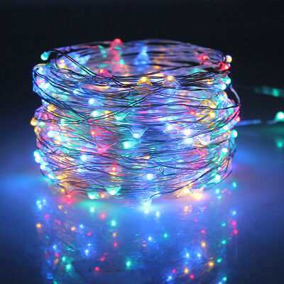 100 200 LED Solar Garden Fairy String Lights Outdoor Wire Copper Decoration Lamp