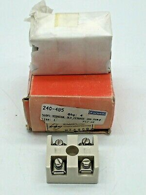 Farnell 240-485 Barrier Terminal Block Ceramic 560FC 5 Holes White 20A 4 Pieces