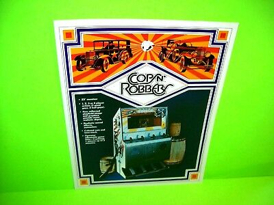 Atari 1976 COPS N ROBBERS Original Video Arcade Game Flyer Car Driving Shooting