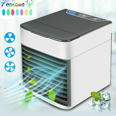 Air Conditioner Fan Mini Cool Bedroom Desk Portable Cooler Cube Water USB Silent
