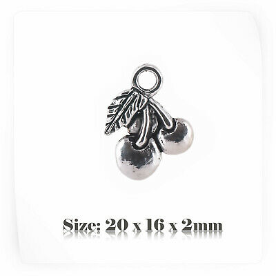 024E 10 Number 40 Forty Age Years Birthday Silver Plated Charms Pendants