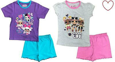 Girls Short Pjs LOL Surprise Childrens Pyjamas Pajamas 4-10 Years