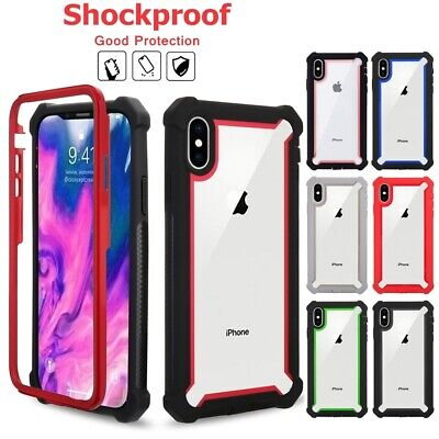 For iPhone X XR XS MAX 6s 7 8 Plus Clear Case Cover Shockproof Heavy Duty Hybrid