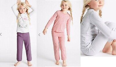 M & S girls pyjama12 18 24 months 2 3 4 5 6 7 8 years nightwear bunnies stripe