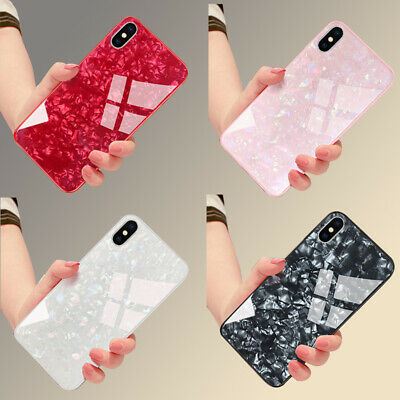Luxury Marble Tempered Glass  Phone Case Cover For iPhone X XS XR Max 8 7 6s 6
