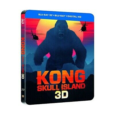 "Kong Skull Island  ""Edition Steelbook"" - Bluray 3D + 2D + Hd - Neuf Sous Blister"