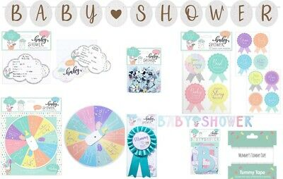 Baby Shower Games Prediction Rosettes Babies Mummy Guess Quiz Bunting Confetti