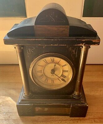 Victorian Small Mantle Clock For Restoration - HAC - Junghans