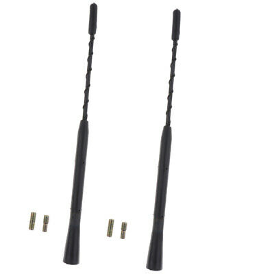 2 x Car Roof Mount AM/FM Universal Radio Antenna Stubby Aerial Mast Whip 9''